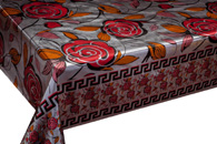 Table Cover - Gold Or Silver Table Cover - Double Face Printed Table Cover - F8016-1