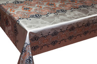 Table Cover - Gold Or Silver Table Cover - Double Face Printed Table Cover - F8023-1