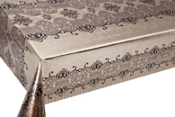 Table Cover - Gold Or Silver Table Cover - Double Face Printed Table Cover - F8023-2