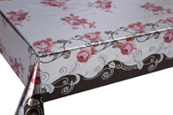 Table Cover - Gold Or Silver Table Cover - Double Face Printed Table Cover - F8059-1